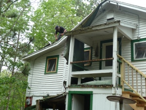 Remove ugly and rotted structures, build new stairs