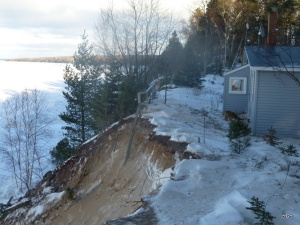 January 2015 Major loss to the bluff next to my house